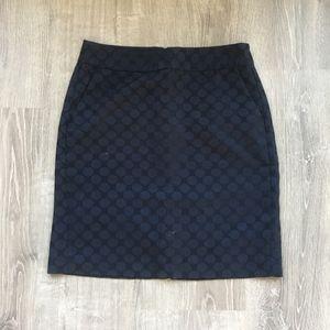 Banana Republic skirt with polka dot pattern